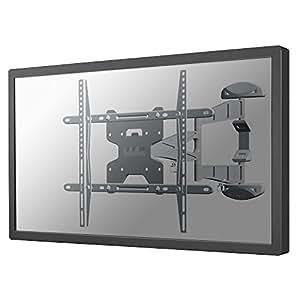 Newstar LED-W500SILVER - Soporte de pared para pantalla plana (100 x 100,600 x 400 mm, Plata, 0 - 20°)