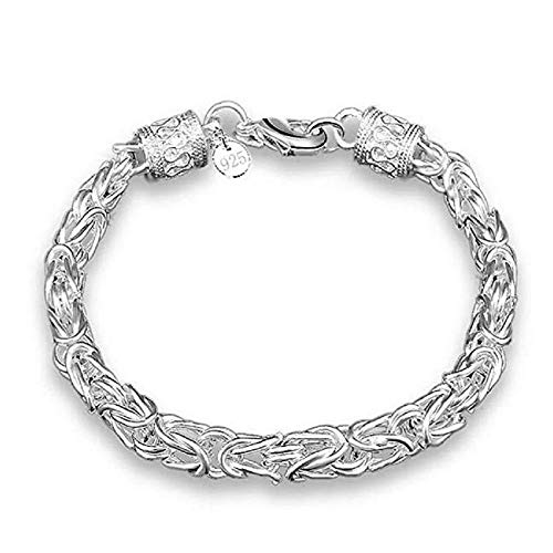 FAVOT Fashion Silver Plated New Faucet Bracelet Girl Hollow Personality Thick Hand Chain (Silver)
