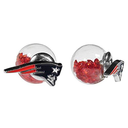 Siskiyou NFL New England Patriots Front/Back Stud Earrings