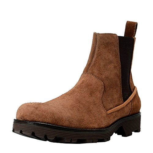 Dolce & Gabbana Men's Brown Suede Leather Ankle Boots Shoes US 10 IT 9 EU 43 Dolce Gabbana Mens Boots