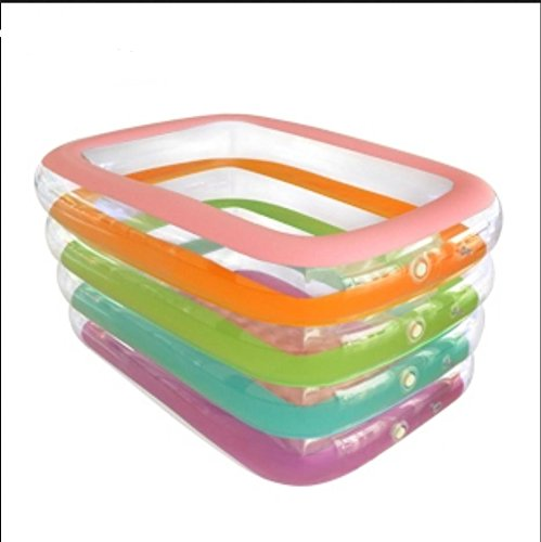 FACAI888 Quarto Anello piscina gonfiabile rettangolare / adulti pieghevole vasca da bagno gonfiabile / vasca gonfiabile bagno / gonfiabile per adulti / multicolore aike