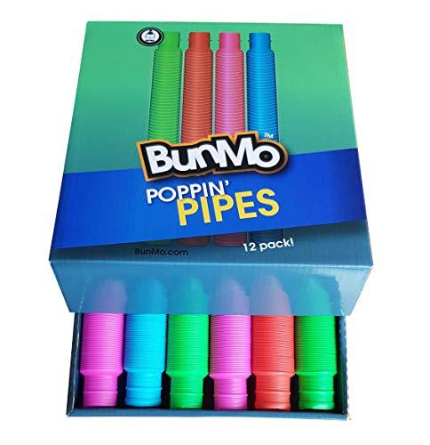 BUNMO Pop Tubes Sensory Fidget Toys – 12 Pack