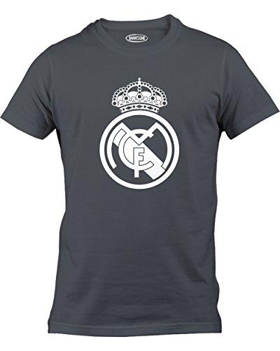Smart Zone FC Real Madrid Shirt Zidane Men's T- Shirt Charcoal Small