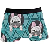 Men's Boxer Briefs Underpants, French Bulldog Trunk Underwear for Men Adult
