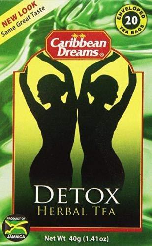 Caribbean Dreams Detox Herbal Tea 20 Bags (Sarsaparilla Jamaican Root)