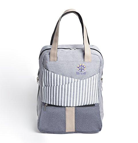 Diaper Bag Backpack by BB WELL-For women and men is a cute a