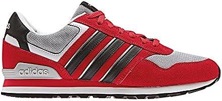 adidas 10K - Zapatillas Deportivas para Hombre, Rojo - (Escarl/Negbas/Plamat) 40: Amazon.es: Deportes y aire libre