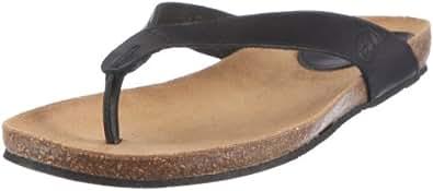 Scholl TIST Lea-W - Zuecos de cuero mujer, color negro, talla 36