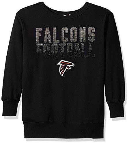 NFL Atlanta Falcons Women's Showtime Pullover Sweater, XX-Large, Black