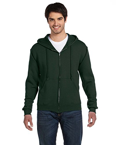 Product of Brand Fruit of The Loom Adult 12 oz Supercotton Full-Zip Hood - Forest Green - L - (Instant Savings of 5% & More)