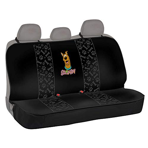 All Protect Scooby Doo Rear Bench Seat Covers Universal Fit for Car Sedan Truck SUV (Waterproof Easy Install Official WB Licensed)
