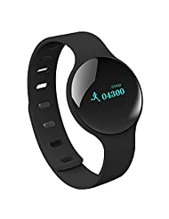 Happy Hours - Fashional H8 Bluetooth 4.0 Smart Watch Wristband / Sports Sleep Track Health Fitness Tracker Bracelet for iOS iPhone 5S/5C5/6 Android Samsung S3/S4/S5/Note2/Note3(Black)