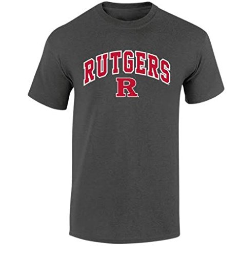 Rutgers Scarlet Knights Mens NCAA T Shirt Dark Heather ArchNCAA T Shirt Dark Heather Arch, Dark Heather, Large (Rutgers T-shirts)