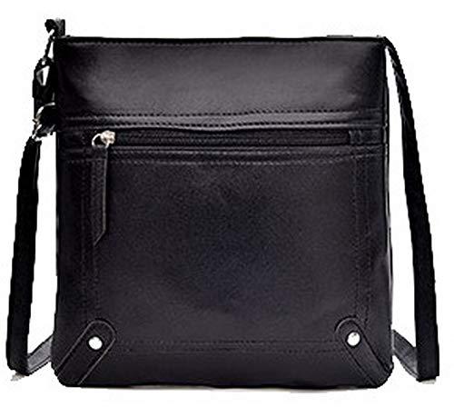 Black Crossbody Pu Bags Bags Casual AllhqFashion Darkbrown FBUBC204295 Women's w68HqnI4