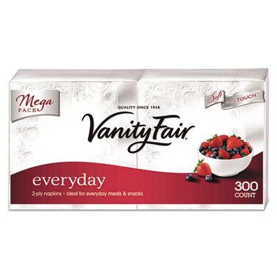 Vanity Fair Everyday Dinner Napkins, 2-Ply, White, 300/Pack