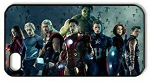 iPhone 4 Case,iPhone 4S Case,Avengers Age Of Ultron-2 PC Hard Shell Black Cover Case for iPhone 4/4S