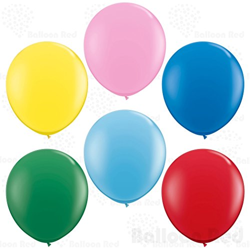 36 Inch Giant Jumbo Latex Balloons (Premium Helium Quality), Pack of 12, Regular Shape - Assorted
