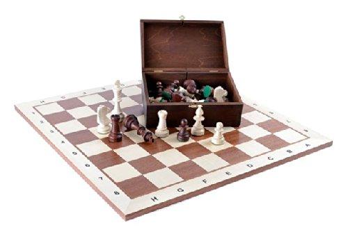 Scacchi in legno Set Tournament # 6 DSB - 54 x 54 cm Scacchiera in legno + Staunton 6 ARBE