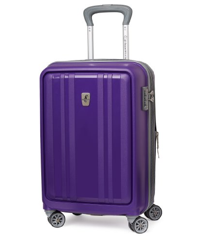 Atlantic Luggage Solstice 20 Inch Hardside Spinner, Brilliant Purple, One - Solstice Position