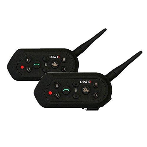 Sets 1200M 6 Riders Interphone Bluetooth Motorcycle Helmet Intercom Headset - 3