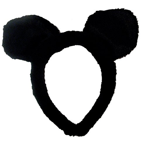 Black Plush Cat or Mouse Ears for Adults or Children One Size Lot of 12