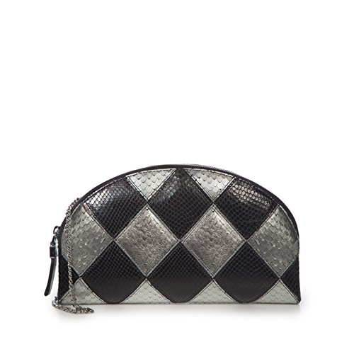 Eric Javits Luxury Fashion Designer Women's Handbag - Pierrot - Black/Silver by Eric Javits