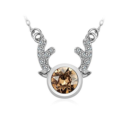 Yuriao Jewelry Fashion Diamond Accented Fawn crystal Pendant - Mean Of The Head Your What Shape Does
