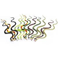Fun Central AU077 14 inch, Toy Rubber Snake, Rubber Snake, Snake Toys, Snake Toy, Rubber Snakes, Rubber Snakes for Garden, Kids, Party Favors and m