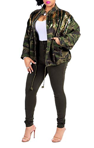 Womens Causal Lightweight Woodland Camouflage Ourdoor Cotton Jacket Camo Tee Shirt