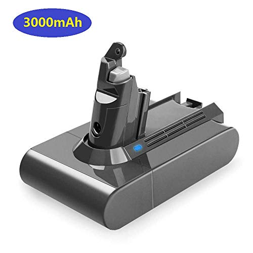 3000mAh Dyson V6 21.6v Li-ion Replacement Battery for Dyson V6 DC59 DC58 DC61 DC72 DC74 DC62 Animal Handheld Replacement Battery 595 650 770 880 Handheld Vacuum Cleaner ()