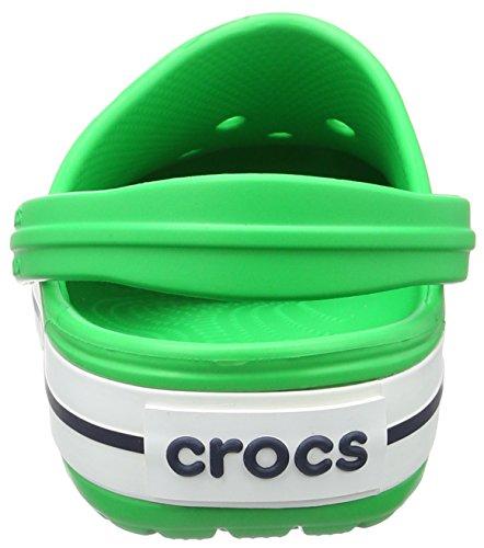 Crocs Crocband, Zuecos Unisex Adulto Verde (Grass Green/White)