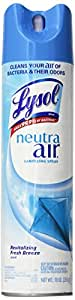 Lysol Neutra Air Sanitizing Spray Air Freshener, Revitalizing Fresh Breeze, 10 Ounce (Pack of 12)