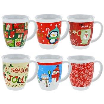 Gift-Boxed Christmas Holiday Mug, 12 oz, Design assorted among those pictured