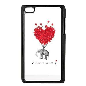 iPod Touch 4 Case Black Animal Printed JSK868848