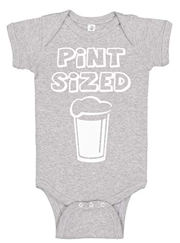 Aiden's Corner Baby Boy and Baby Girl Clothes - Handmade Bodysuits Pint Sized (Heather, 6 Months)