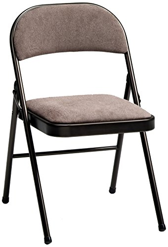Meco 4-Pack Deluxe Fabric Padded Folding Chair, Cinnabar Frame and Corrin Fabric Seat and Back by MECO