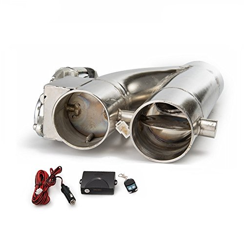 Epman TK-CUT007Y Patented Product JDM 3 inch Electric Exhaust Dump Cutout E-cut Out Bypass Switch Dual-Valve System