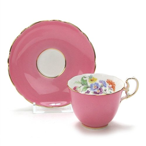 Demitasse Cup & Saucer by Aynsley, China, Pink