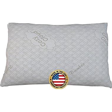 CozyCloud Bamboo Shredded Memory Foam Pillow, Queen