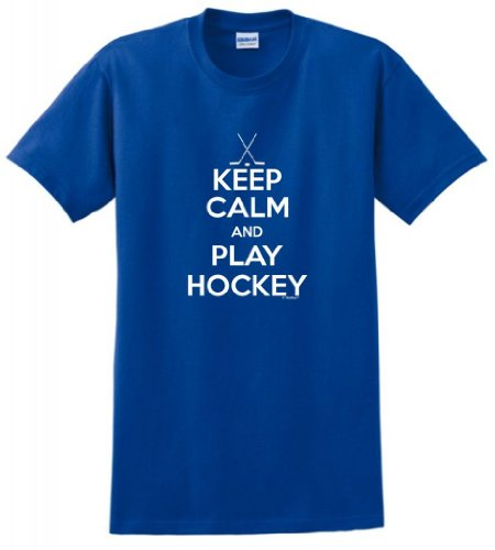 Keep Calm Play Hockey T Shirt