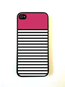 Bright Pink Black And White Stripes iPhone 5 Case - For iPhone 5/5G - Designer PC Case Verizon AT&T Sprint