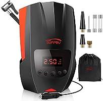 SUPPOU Compresseur d'Air Portatif 12V, Compresseur Voiture Auto d'air Digital Portable Gonfleur Pneus,120W Electrique...