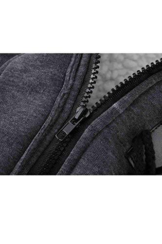 Cappuccio Chic Vintage Mantello Addensare Outerwear Monocromo Cerniera Giacca Darkgrey Plus Manica Caldo Cute Donna Con Fit Slim Moda Lunga Giaccone Prodotto Eleganti Invernali gExqRawd