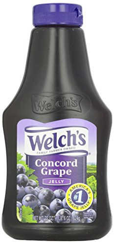 Welch's Squeeze Jelly, Grape, 22 Ounce (Pack of 12)