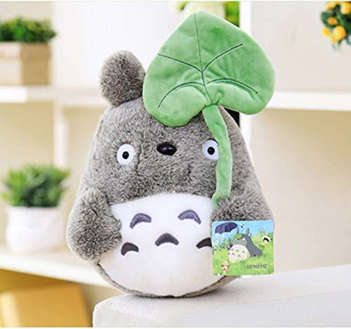 Totoro Plush - Leaf Hat - 7.8 Inches   My Neighbor Totoro   Studio Ghibli Plush 7