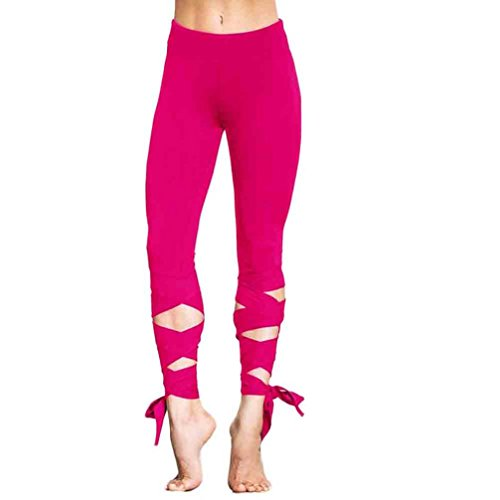 [Hot Yoga Pants! AMA(TM) Women Sports Gym Yoga Workout Cropped Leggings Fitness Lounge Athletic Pants (L, Hot] (Lady Santa Outfit)