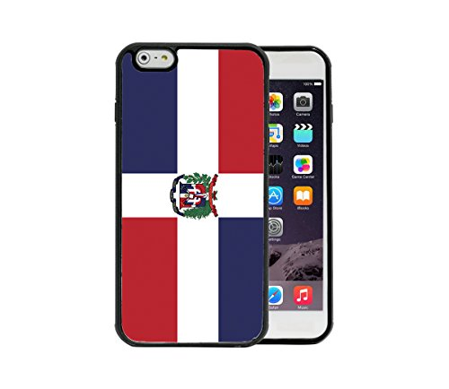 Dominican Republic Country Flag Simple Style Apple iPhone 6/6S Plus, 5.5 Rubber TPU Silicone Phone Case - FITS IPHONE 6 PLUS & IPHONE 6S PLUS (Republic Country Flag)