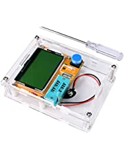 Kuman Multifunction Meter DIY kit, Mega 328 Graphic transistor Tester, NPN PNP Diodes Triode Capacitor ESR SCR MOSFET Resistor Inductance LCD Display Checker with case and screwdriver K77