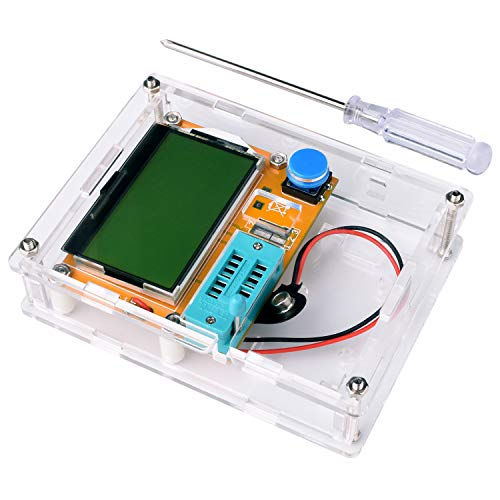 Extension Assembly Tube (Multifunction Meter DIY kit, kuman Mega 328 Graphic transistor Tester, NPN PNP Diodes Triode Capacitor ESR SCR MOSFET Resistor Inductance LCD Display Checker with case and screwdriver K77)