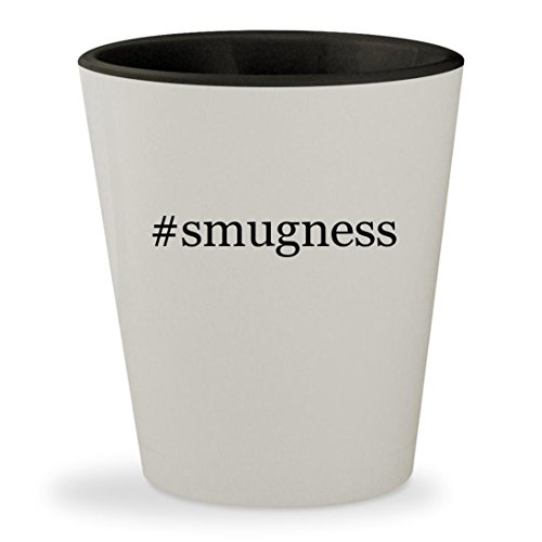 Price comparison product image #smugness - Hashtag White Outer & Black Inner Ceramic 1.5oz Shot Glass